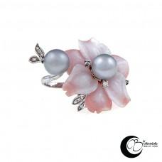 Anello con Fiori e Perle