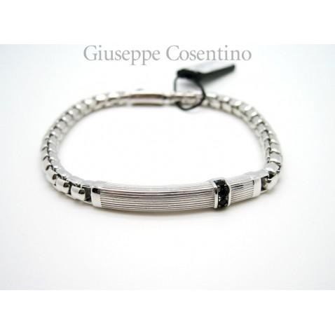 Bracciale Zancan Cosmopolitan Collection Argento 925 e spinelli neri