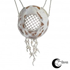 Collana Oro con Cammeo, perle e brillanti