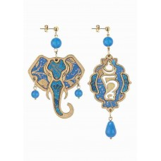 LEBOLE, Orecchini Elefante Azzurro