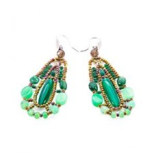 Ziio, orecchini fuji verdi