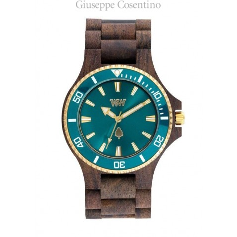OROLOGIO WEWOOD - DATE MB Choco Rough Emerald