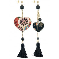 Lebole, Kokoro Black earrings