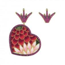 Lebole, earrings Kokoro Must red small