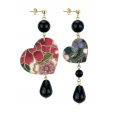 Lebole, black Kokoro earrings