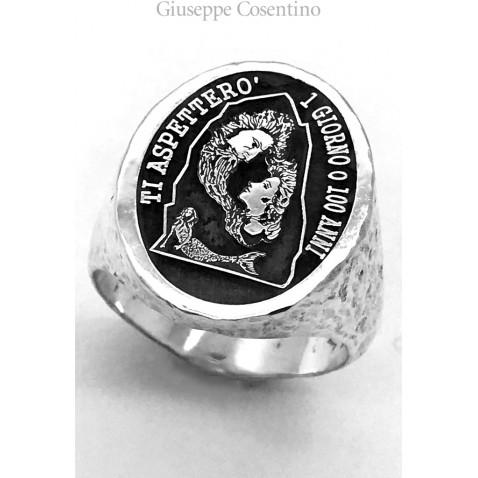 """Pizzomunno & Cristalda"" ring"