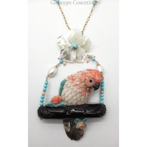Collana Pappagallo di corallo