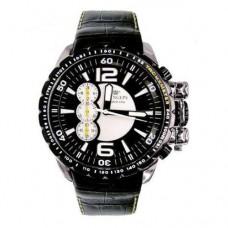 Orologio PRINGEPS da uomo Pilota cronografo oversize cassa acciaio con cinturino pelle.    COD: CR555
